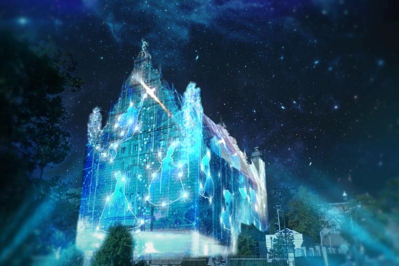 Collegium Maximum iluminacje - Bella Skyway Festival