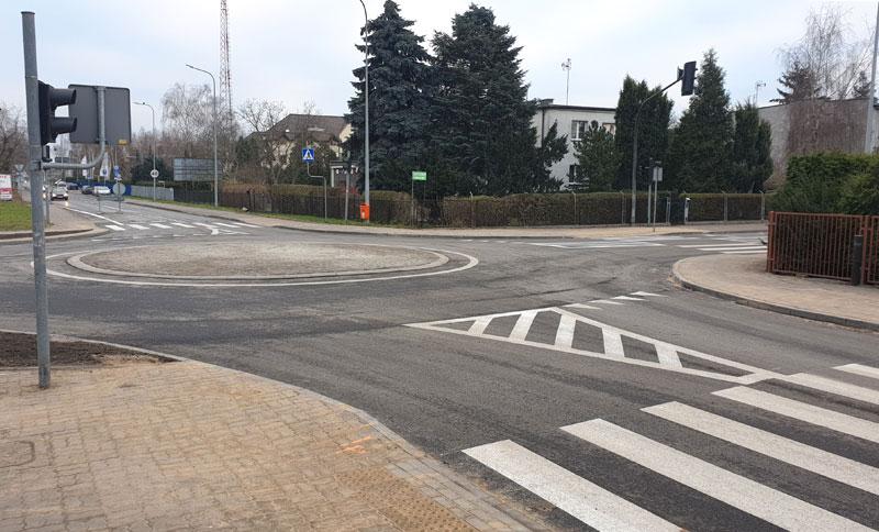 Gotowe rondo na skrzyżowaniu ulic Legionów i Żwirki i Wigury, fot. Miejski Zarząd Dróg