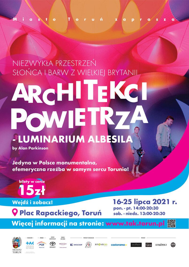 Plakat wydarzenia Architekci Powietrza - Luminarium Albesila