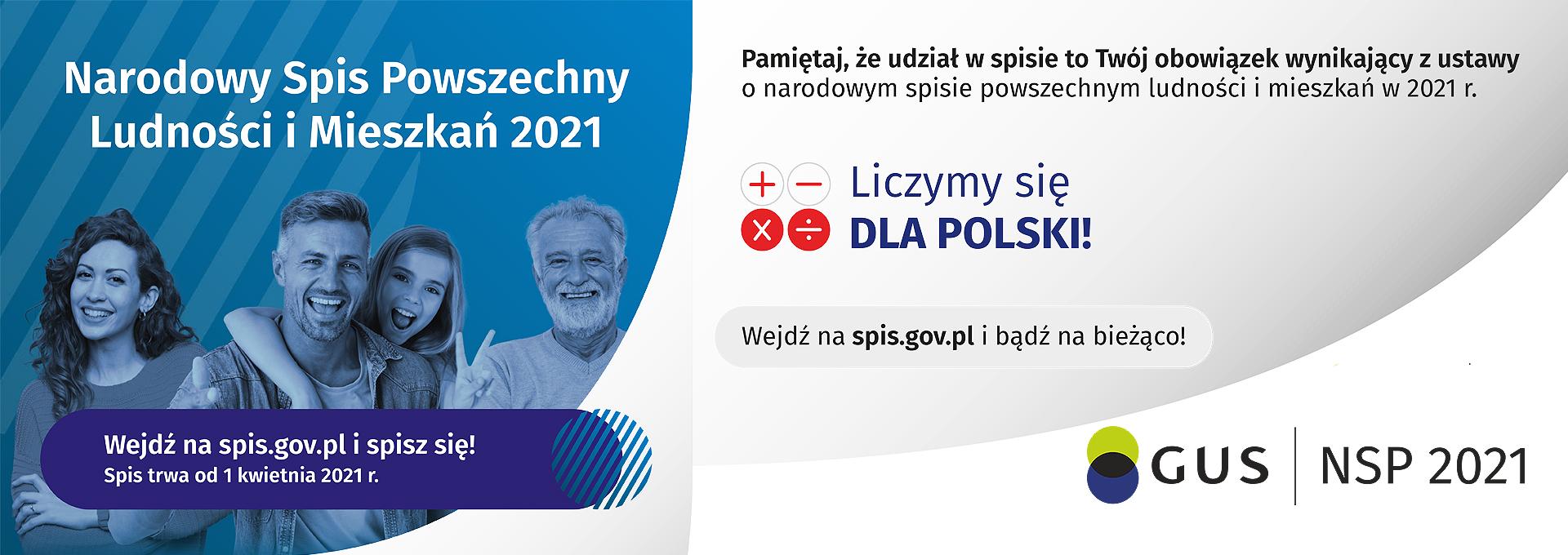 Narodowy Spis Powszechny 2021. Grafika ilustracyjna.