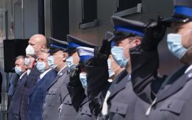 Prezydent Michał Zaleski na obchodach Święta Policji w Dobrzejewicach