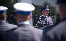 Oficjalny meldunek w trakcie Święta Policji