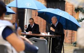 Mariusz Wójtowicz i prezydent Michał Zaleski