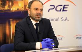 Głos zabiera Adam Banaszak, wiceprezes PGE Toruń