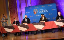A. Kulbicka-Tondel, przewodniczący Czyżniewski, prezydent Zaleski, Kasia Lins, Mariusz Składanowski