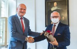 prezydent Michał Zaleski i dyrektor Marek Rubnikowicz