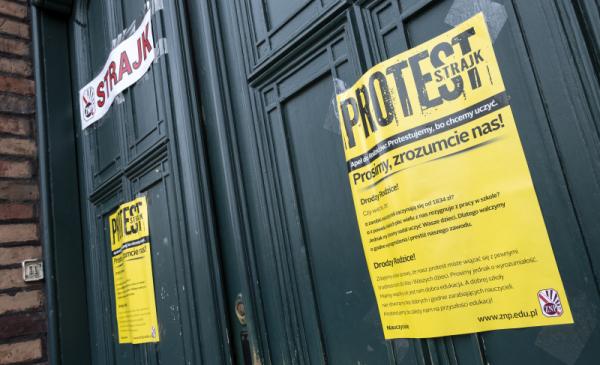 Trwa strajk w szkołach