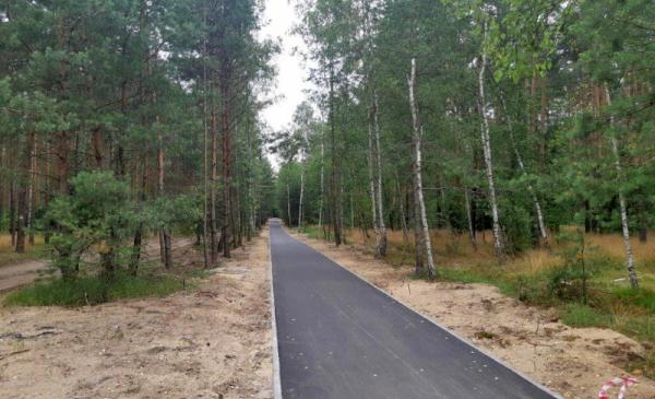 Na zdjęciu: ścieżka rowerowa łącząca osadę leśną na Barbarce z Bydgoskim Przedmieściem