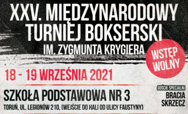 Fragment plakatu informującego o 25. Międzynarodowym Turnieju Bokserskim