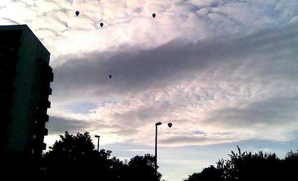 balony nad Toruniem