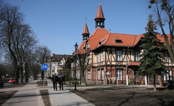 Budynek z tzw. muru pryskiego, ul. Bydgoska 34, fot. Małgorzata Litwin