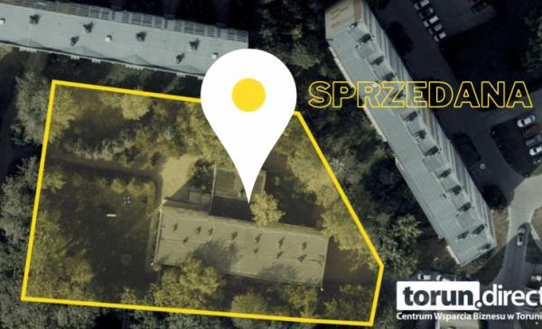 Na zdjęciu: grafika informująca o sprzedanej działce przy ul. Donimirskiego