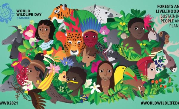 Plakat Światowego Dnia Dzikiej Przyrody 2021