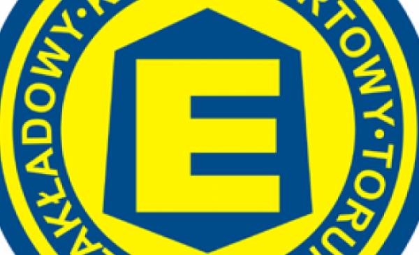 Na zdjęciu: logo klubowe Elany Toruń