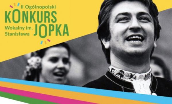 Plakat II Ogólnopolskiego Konkursu Wokalnego im. Stanisława Jopka