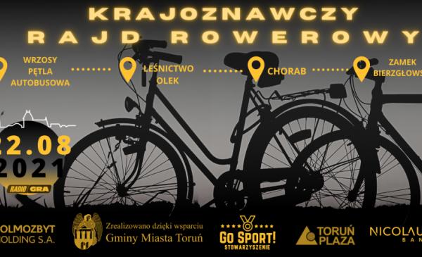 Plakat informujący o Krajoznawczym Rajdzie Rowerowym 2021