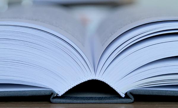 zdjęcie otwartej książki, fot. Magdalena Kujawa