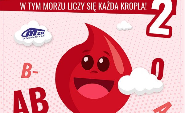 plakat akcji krwiodawstwa