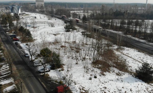 Na zdjęciu: działka przy ul. Szubińskiej z lotu ptaka