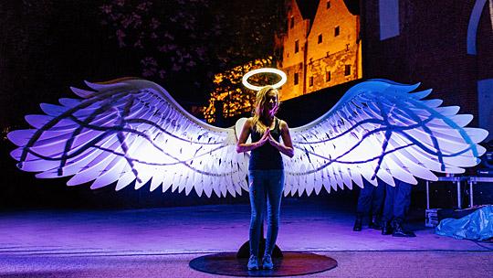 Aniołowie wolności podczas Bella Skyway Festiwal