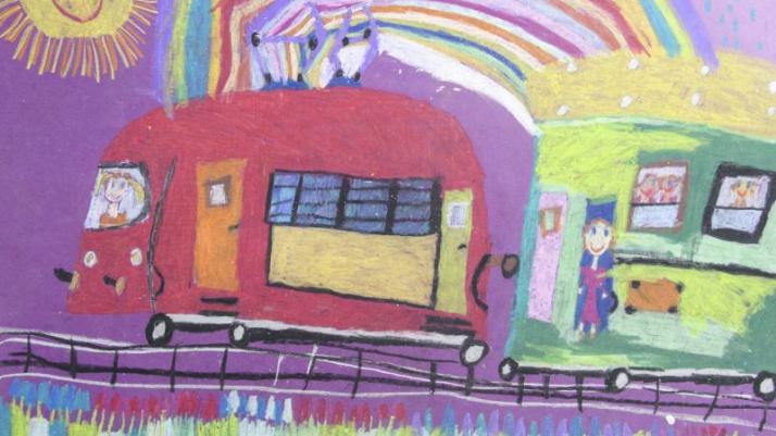 praca z wystawy: Valeria Andreeva, lat 7, Kazachstan