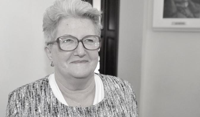 Zdjęcie czarno-białe - portret Barbary Litwin