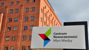 Na zdjęciu fragment budynku Centrum Nowoczesności Młyn Wiedzy