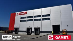 Na zdjęciu hala magazynowa firmy Gamet