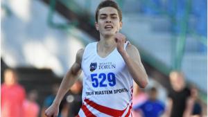 Na zdjęciu Michał Piwoński w biegu