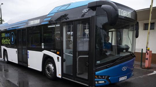 Na zdjęciu: pierwszy autobus elektryczny w taborze MZK