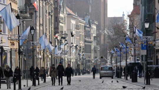 Toruń w dniu pogrzebu śp. prezydenta Pawła Adamowicza, fot. Małgorzata Litwin