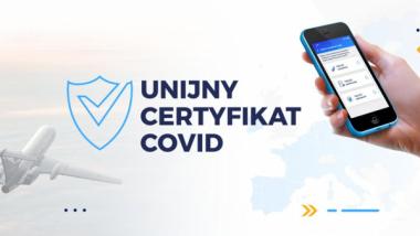 Grafika Ministerstwa Zdrowia dot. Unijnego Certyfikatu Covid