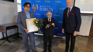 dr Michał Targowski, dr Marian Ptaszyk, prezydent Michał Zaleski