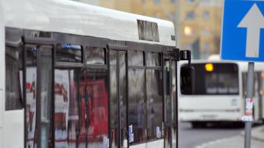 Na zdjęciu: fragment autobusu miejskiego