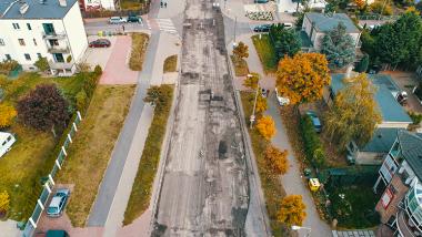 widok na prace przy ul. Długiej