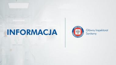 Na zdjęciu: grafika z logo Głównego Inspektoratu Sanitarnego