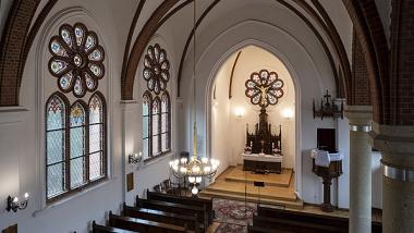 wnętrze kościoła św. Szczepana po remoncie, fot. Wojtek Szabelski