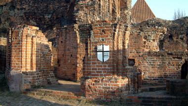 zdjęcie ruin Zamku Krzyżackiego, fot. Małgorzata Litwin