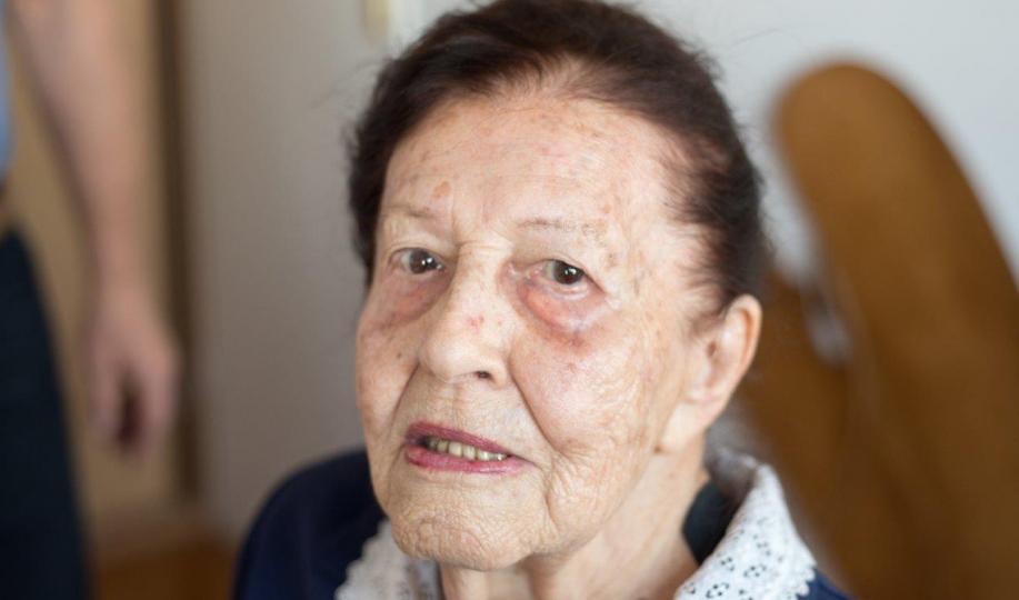 Na zdjęciu portretowym: stulatka Jadwiga Maria Strawińska