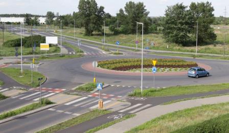 Na zdjęciu widać rondo dr. Tadeusza Ładniaka