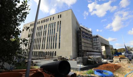 Gmach budowanego Sądu Rejonowego