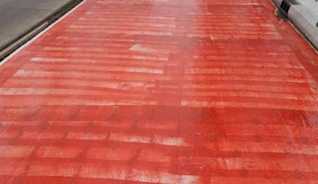 Powierzchnia przygotowana do wylewanai asfaltu